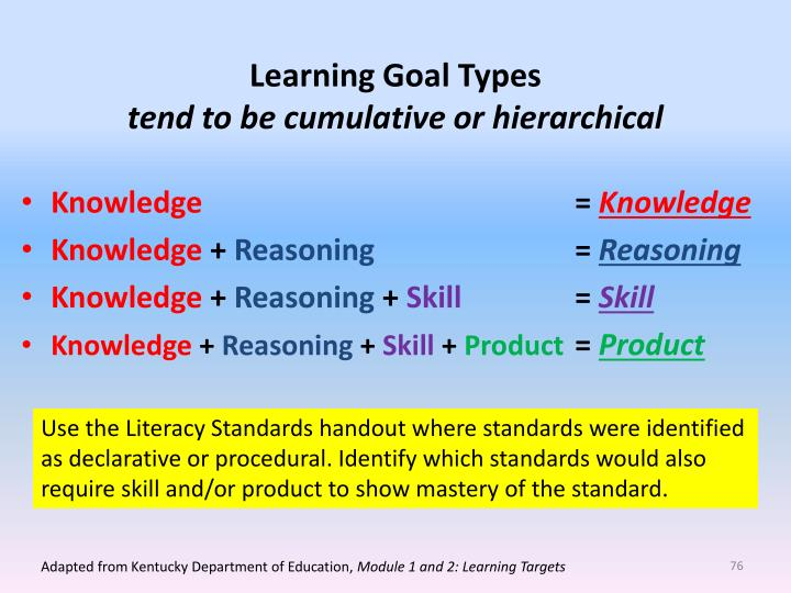 Learning Goal Types
