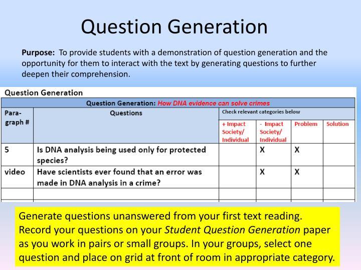 Question Generation