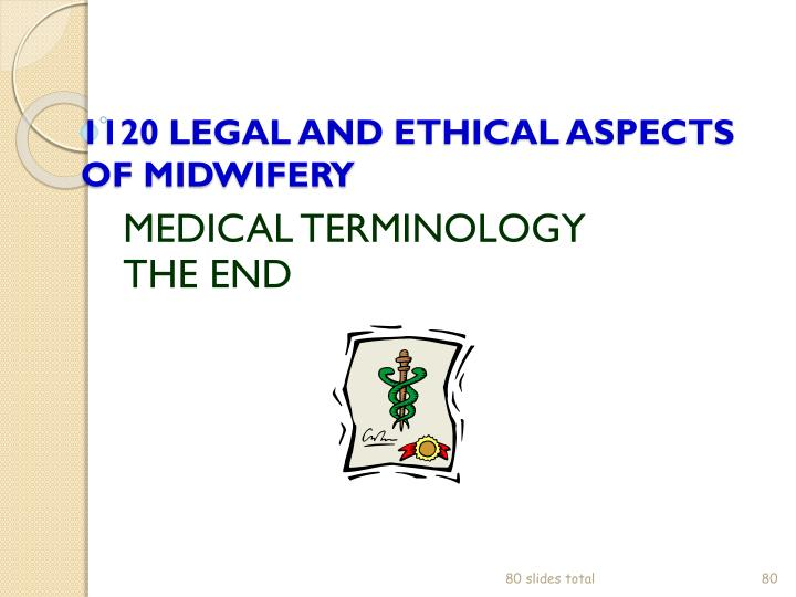 1120 LEGAL AND ETHICAL ASPECTS OF MIDWIFERY