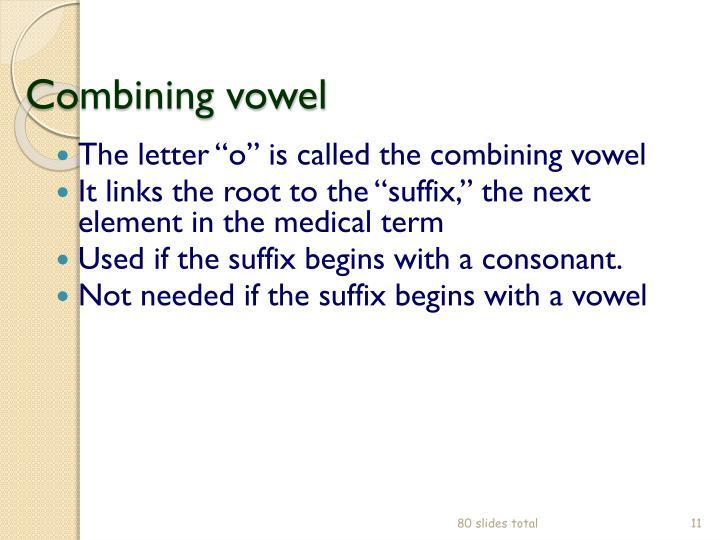 Combining vowel