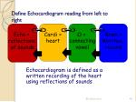 define echocardiogram reading from left to right1