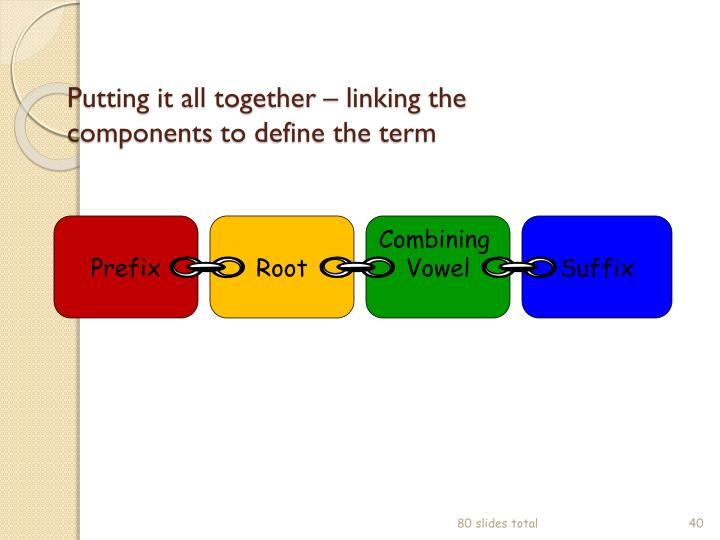 Putting it all together – linking the components to define the term