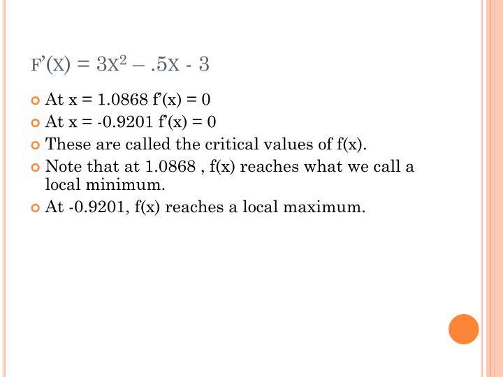 f'(x) = 3x