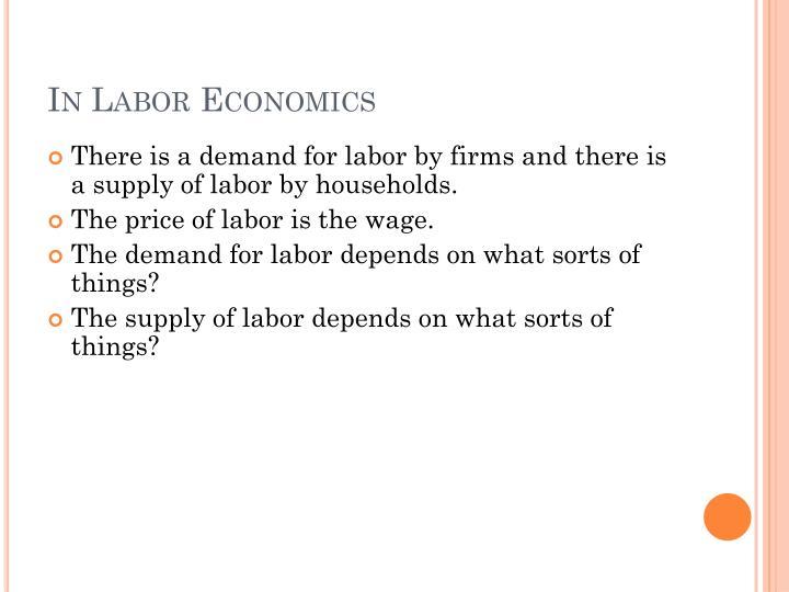 In Labor Economics