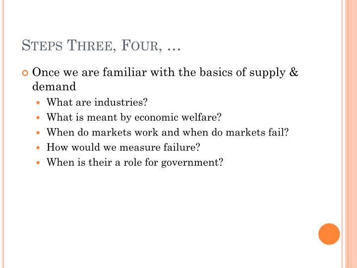 Steps Three, Four, …