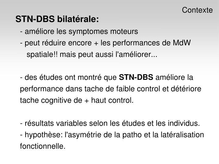 STN-DBS bilatérale: