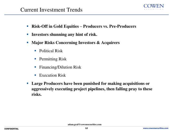 Risk-Off in Gold Equities – Producers vs.