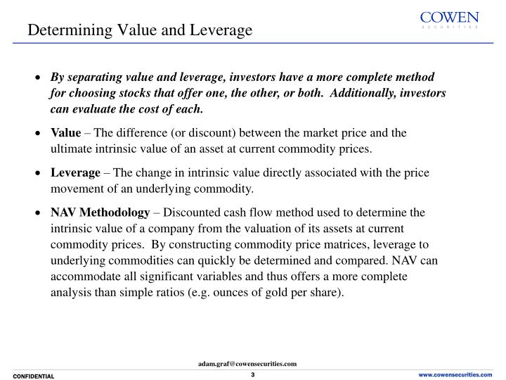 By separating value and leverage, investors have a more complete method for choosing stocks that offer one, the other, or both.  Additionally, investors can evaluate the cost of each.