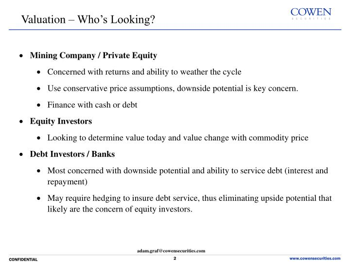 Valuation – Who's Looking?