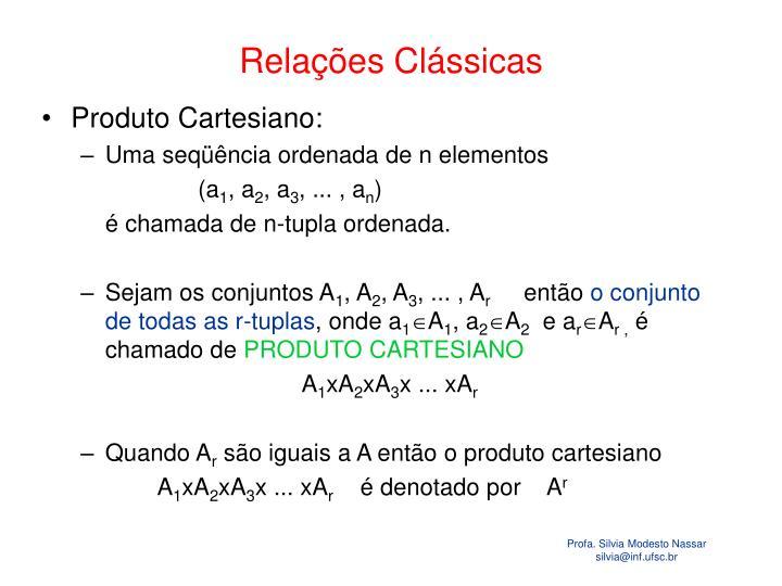 Relações Clássicas
