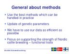 general about methods
