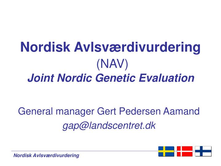 nordisk avlsv rdivurdering nav joint nordic genetic evaluation