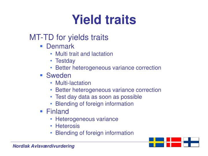 Yield traits