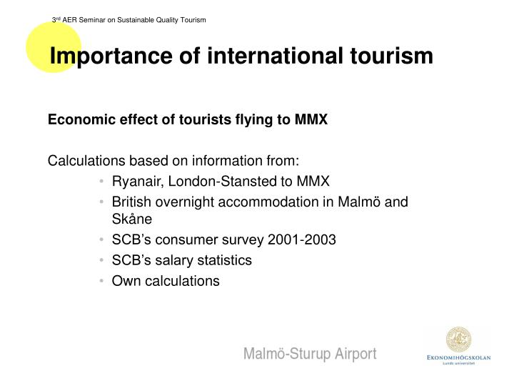 Importance of international tourism