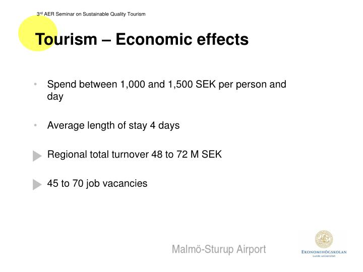 Tourism – Economic effects