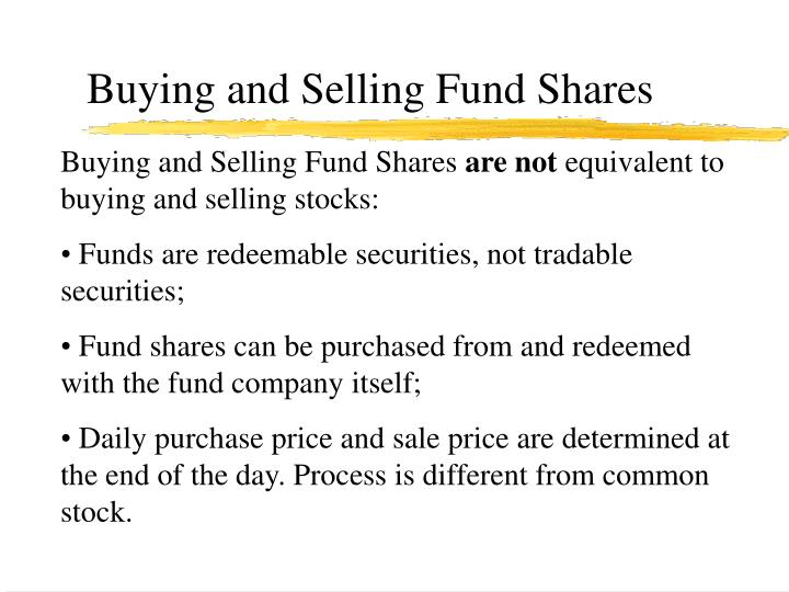 Buying and Selling Fund Shares