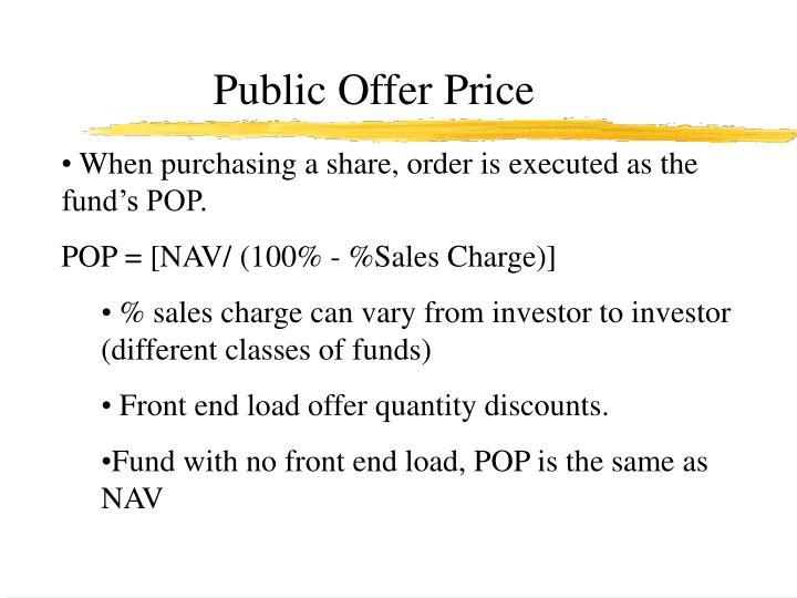 Public Offer Price