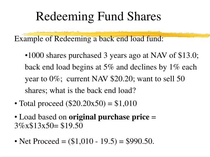 Redeeming Fund Shares
