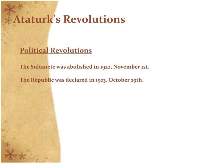 Ataturk's Revolutions