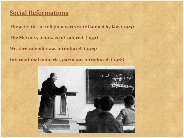 Social Reformations