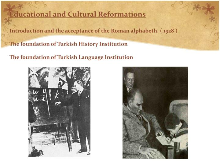 Educational and Cultural Reformations