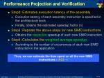performance projection and verification2