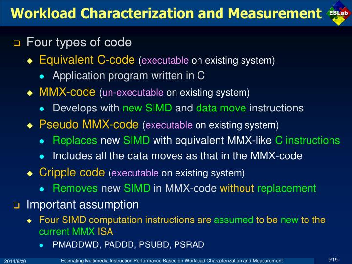 Workload Characterization and Measurement