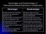 advantages and disadvantages of telemedicine based depression collaborative
