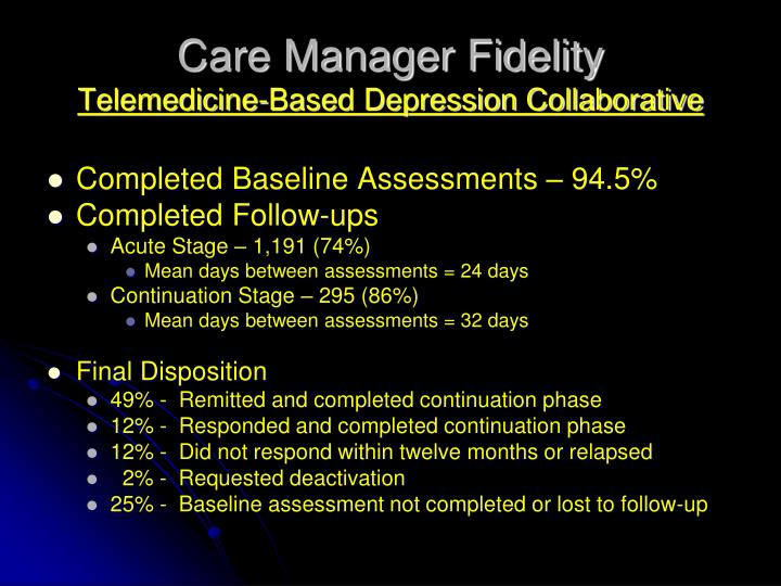 Care Manager Fidelity