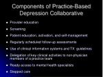 components of practice based depression collaborative