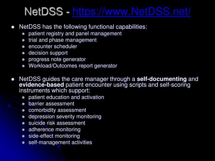 NetDSS -