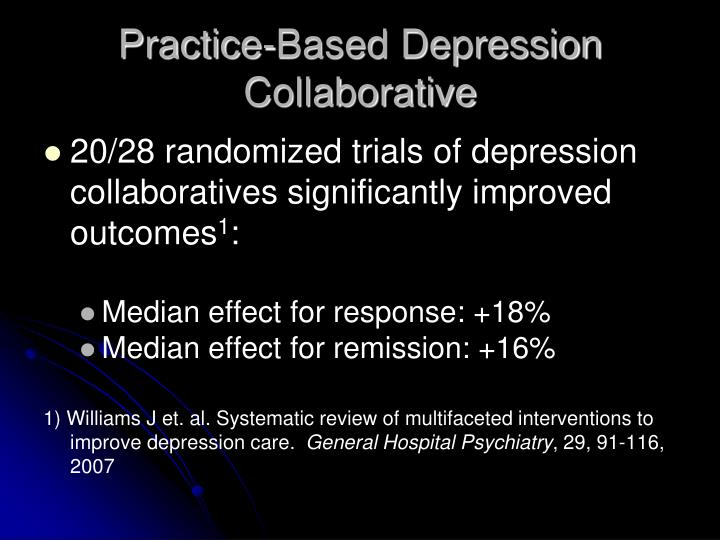 Practice-Based Depression Collaborative