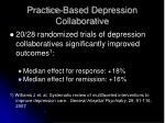 practice based depression collaborative