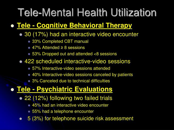 Tele-Mental Health Utilization