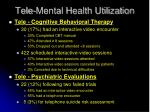 tele mental health utilization