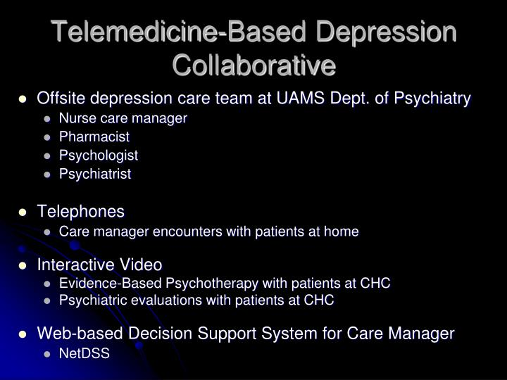 Telemedicine-Based Depression Collaborative