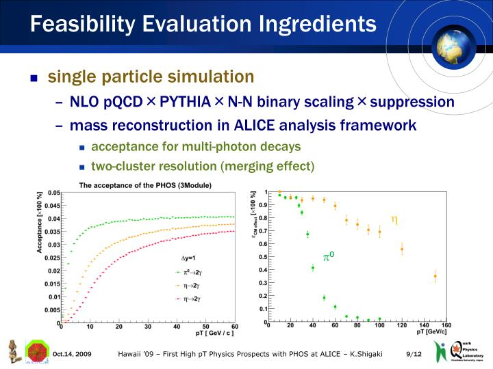 Feasibility Evaluation Ingredients