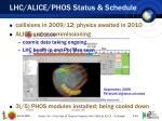 lhc alice phos status schedule