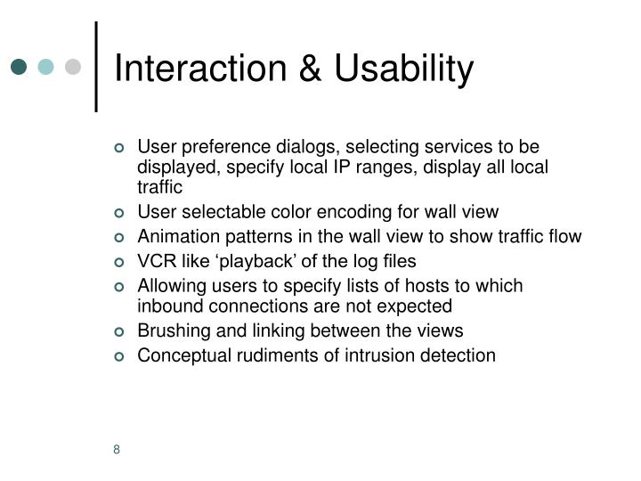 Interaction & Usability