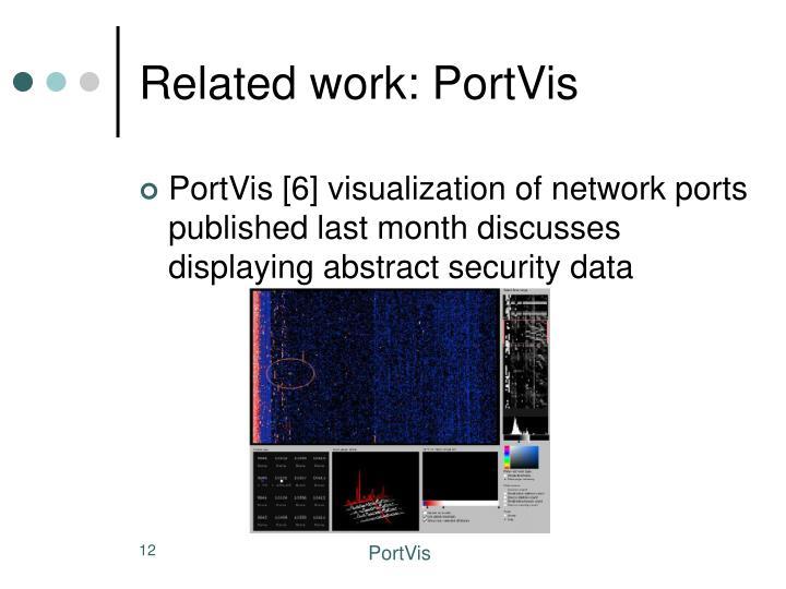 Related work: PortVis