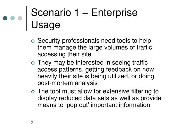 Scenario 1 – Enterprise Usage