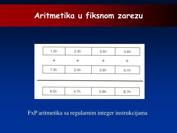 Aritmetika u fiksnom zarezu
