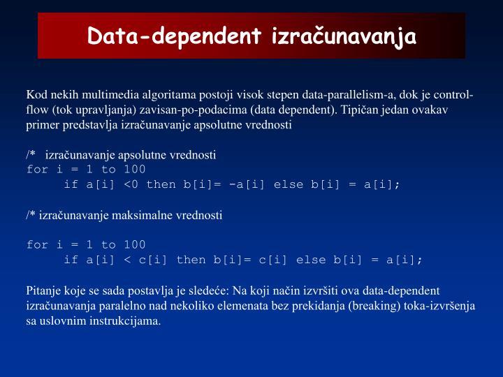 Data-dependent izračunavanja