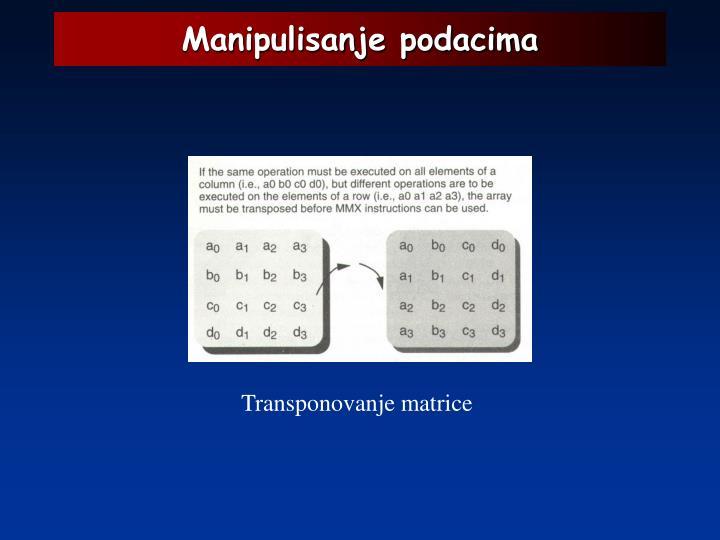 Manipulisanje podacima