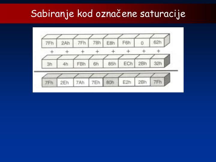Sabiranje kod označene saturacije