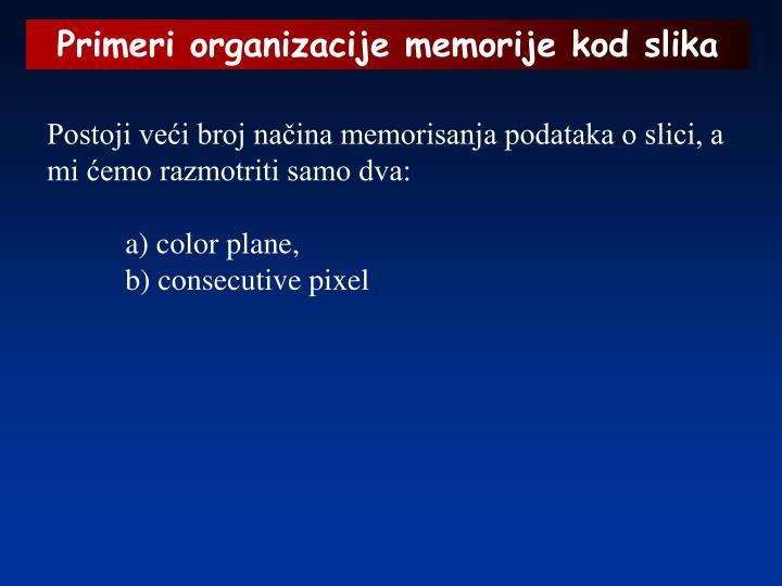 Primeri organizacije memorije kod slika