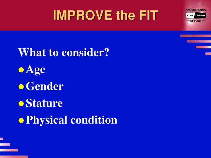 IMPROVE the FIT