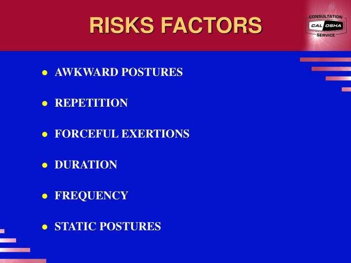 RISKS FACTORS