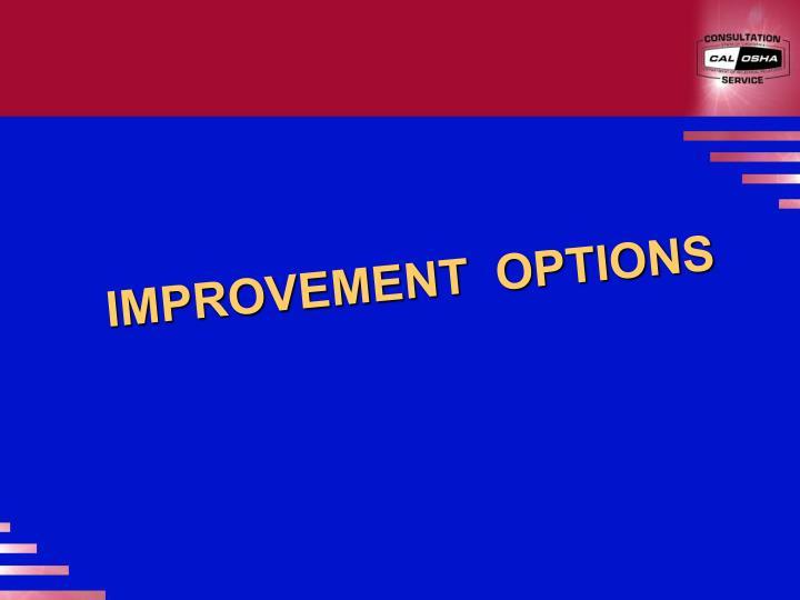 IMPROVEMENT  OPTIONS