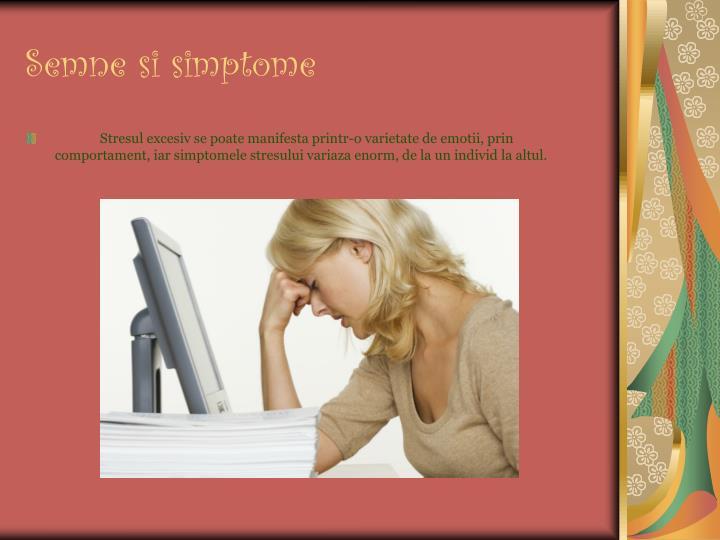 Semne si simptome